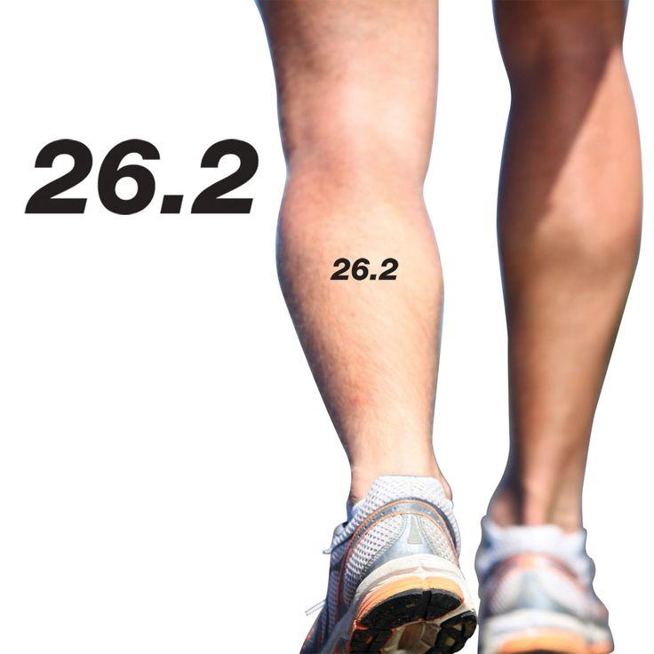 26 2 marathon sporttats temporary running tattoo set of 2
