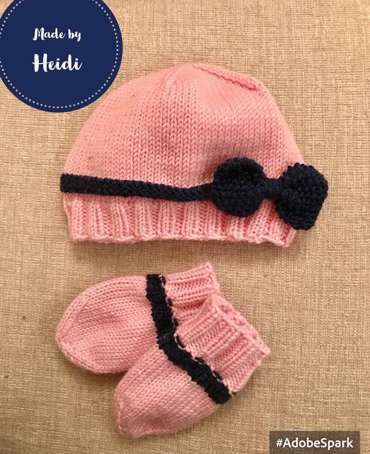 Neulesetti tytölle - pipo & lapaset / Knitted hat & mittens DIY