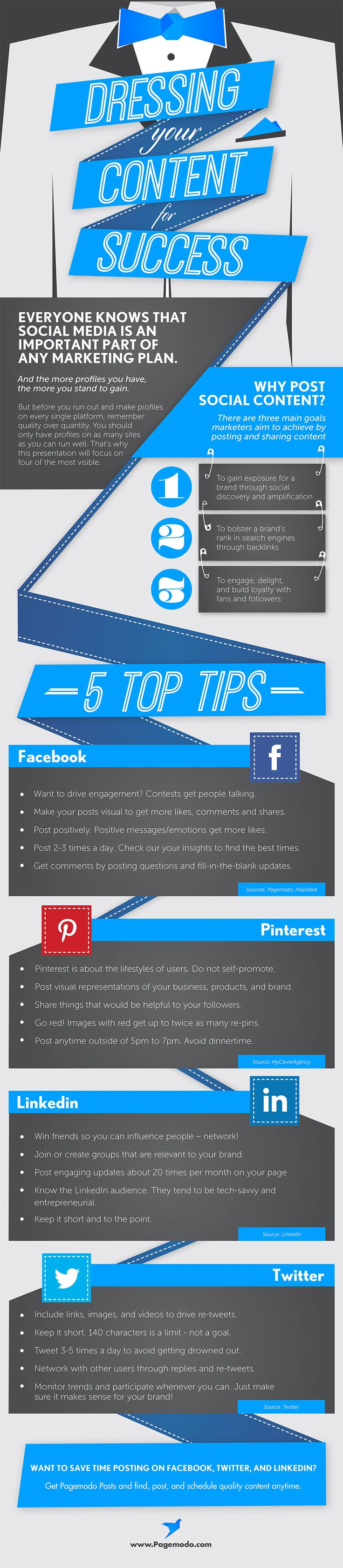 Dressing your #SocialMedia Content for Success - #infographic #contentmarketing
