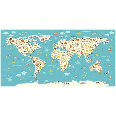 Simple  Kinder Weltkarte g m Fotopapier matt mit UV
