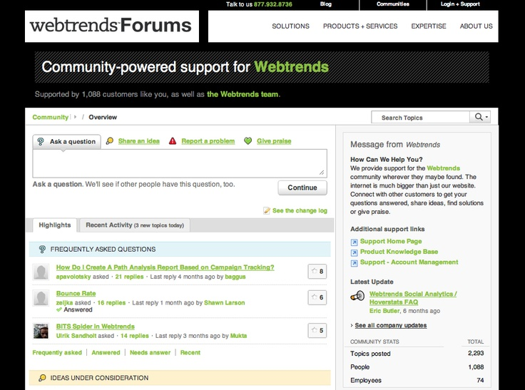 Webtrends uses Get Satisfaction for Salesforce to bridge the gap between social channels and their system of record.