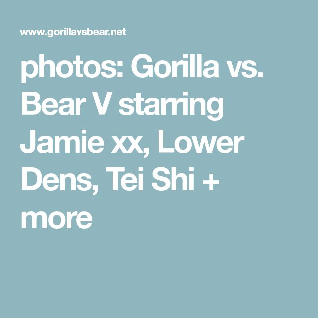 photos: Gorilla vs. Bear V starring Jamie xx, Lower Dens, Tei Shi + more