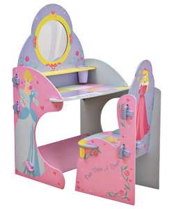 Disney Princess Desk and Chair  Beautiful Disney Princess wooden vanity table and chair. The perfect addition to any little  http://www.comparestoreprices.co.uk/childrens-furniture/disney-princess-desk-and-chair.asp #disney #disneyfurniture #kidsfurniture #childrensfurniture