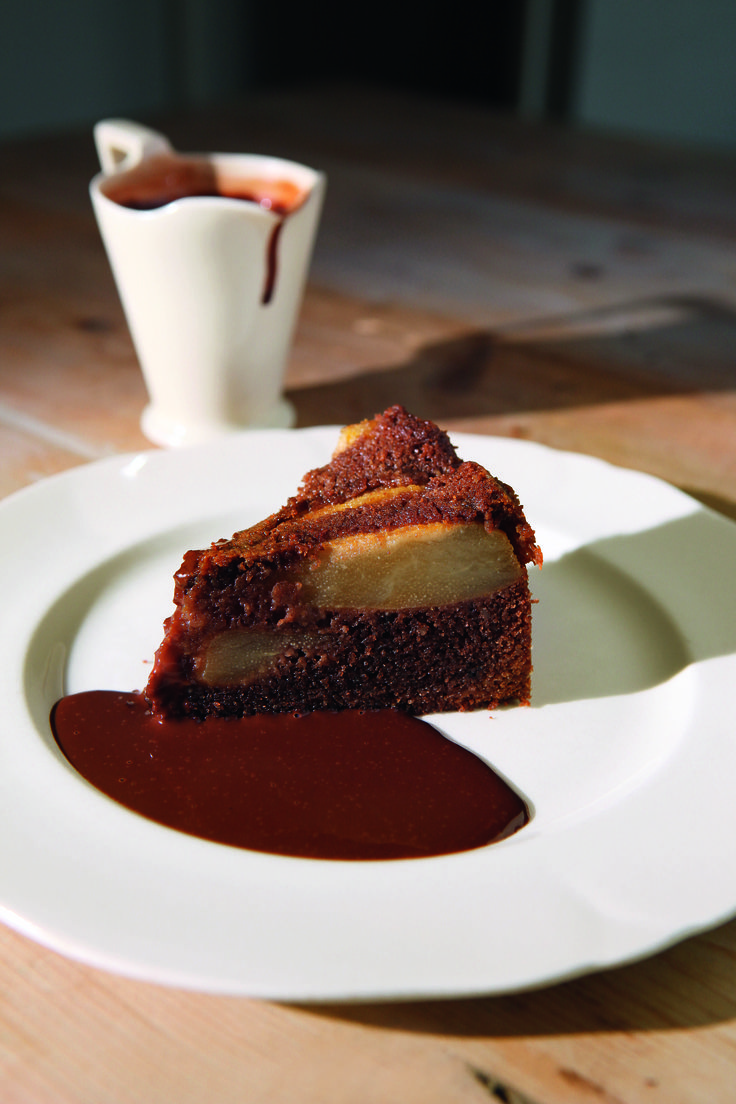 Chocolate pear cake by HF-W, if sold as part of a Bake with Compassion sale, the sauce might be omitted. Once again, please ensure you're cakes are completely compassionate. All butter, milk etc from higher welfare cows!