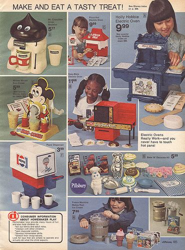 1976-xx-xx JCPenney Christmas Catalog P485 - had the Holly Hobbie pie oven, but desperately wanted the Pepsi machine and Pillsbury set. Never happened, though.