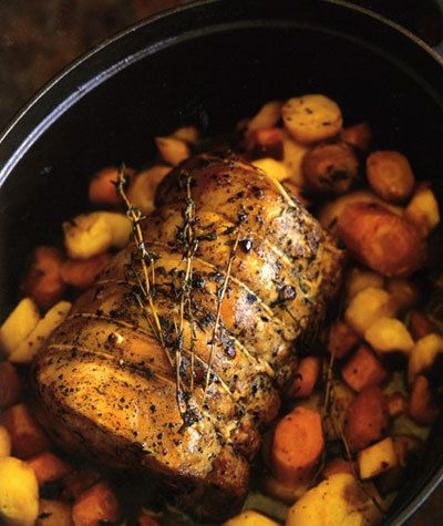 Paleo Pork and Parsnips (would do in slow cooker, parsnips, sweet potato, pork tenderloin)