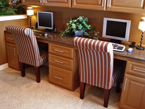 19 best images about home office on pinterest home Desk for two persons