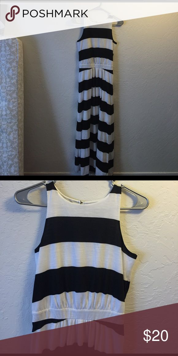 Mossimo Black and White Dress Stripped maxi dress Mossimo Supply Co. Dresses Maxi