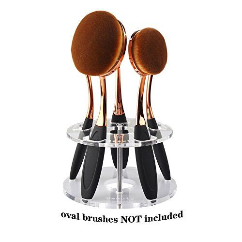DSCbeauty 5 Holes Holder for Holding 5 Pcs Oval Makeup Brush Set Toothbrush Makeup Brush Kit Drying Rack Oval Brushes Organizer Display Stand Round Clear. For product & price info go to:  https://beautyworld.today/products/dscbeauty-5-holes-holder-for-holding-5-pcs-oval-makeup-brush-set-toothbrush-makeup-brush-kit-drying-rack-oval-brushes-organizer-display-stand-round-clear/
