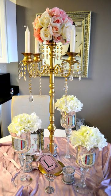 THE ROSE COLORED AISLE: DIY- How to make your own gold candelabra