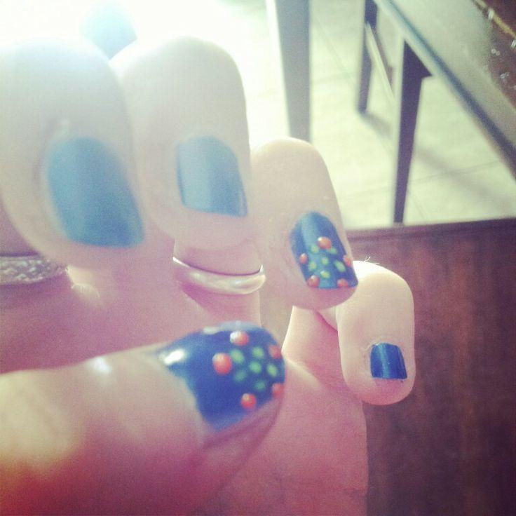 #ModE #nails #nail #unghie #blu #blue #orange #arancione #yellow #giallo   Seguimi, follow me www.facebook.com/pages/ModE/40443306661391