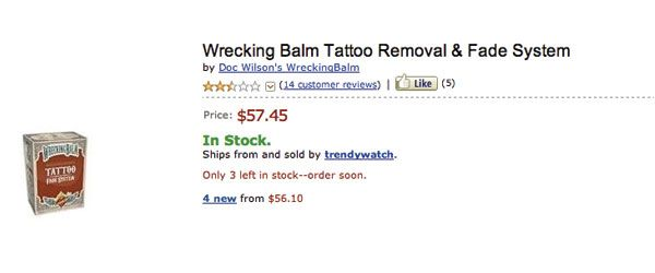 Wrecking Balm Tattoo Removal funny review!