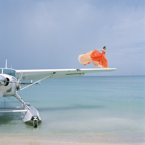 Rodney Smith - Saori on Sea Plane Wing, Dominican Republic, 2010