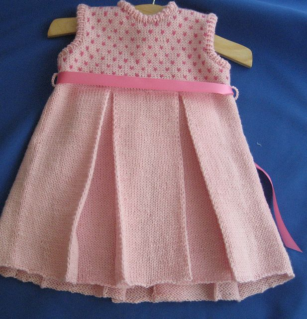 Ravelry: Pleated Baby Dress pattern by Arenda Holladay