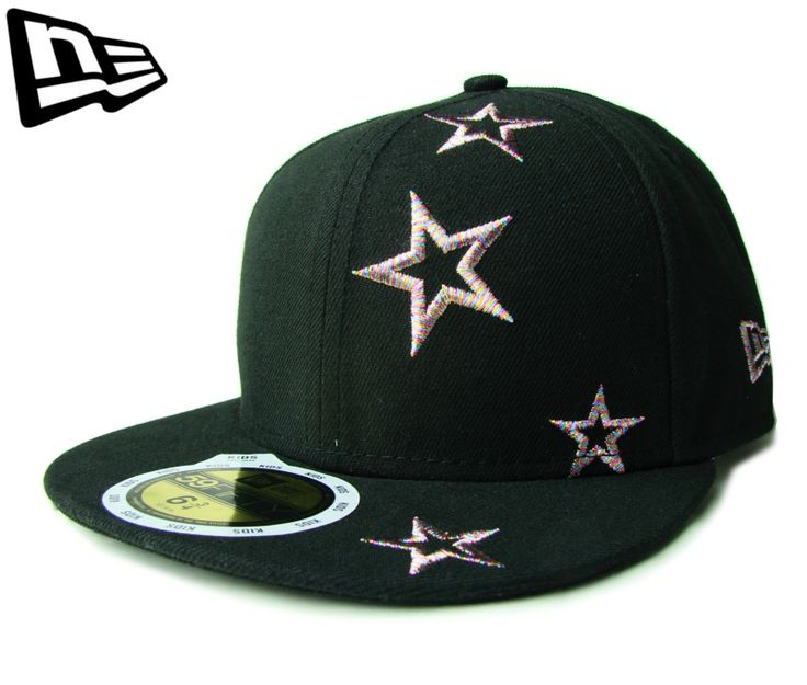 (ニューエラ) NEW ERA KID'S 59FIFTY スター ブラックXキラキラマーブルカラー【STARS】【dance】【newera】【帽子】【new era】【黒】【キッズサイズ】【NEロゴ】【子供用】【ダンス衣装】【51 52 53 54cm】