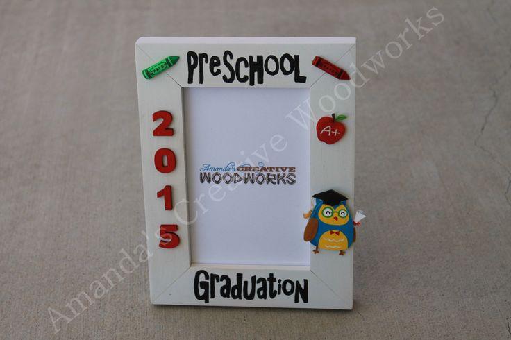 Preschool Graduation Frame, Graduation Frame, School Years Frame, Custom School Frames, Preschool Graduation Gift by AmandasWoodWorks on Etsy https://www.etsy.com/listing/184980584/preschool-graduation-frame-graduation