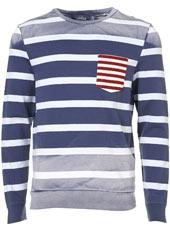 Blue/White Stripe #Sweatshirt: Bluewhit Stripes, In Love, Blue Album, True Blue, Blue Whit Stripes, Stripes Sweatshirts, Men Fashion, One Hoodie, Katy Clothing