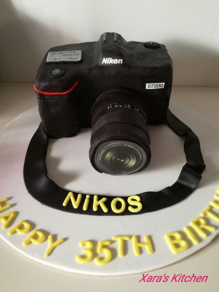 Nikon cake Xara's Kitchen