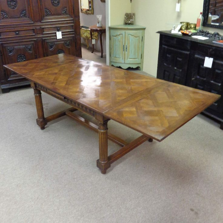 1550 54 To 98 19th Century French Antique Walnut Table