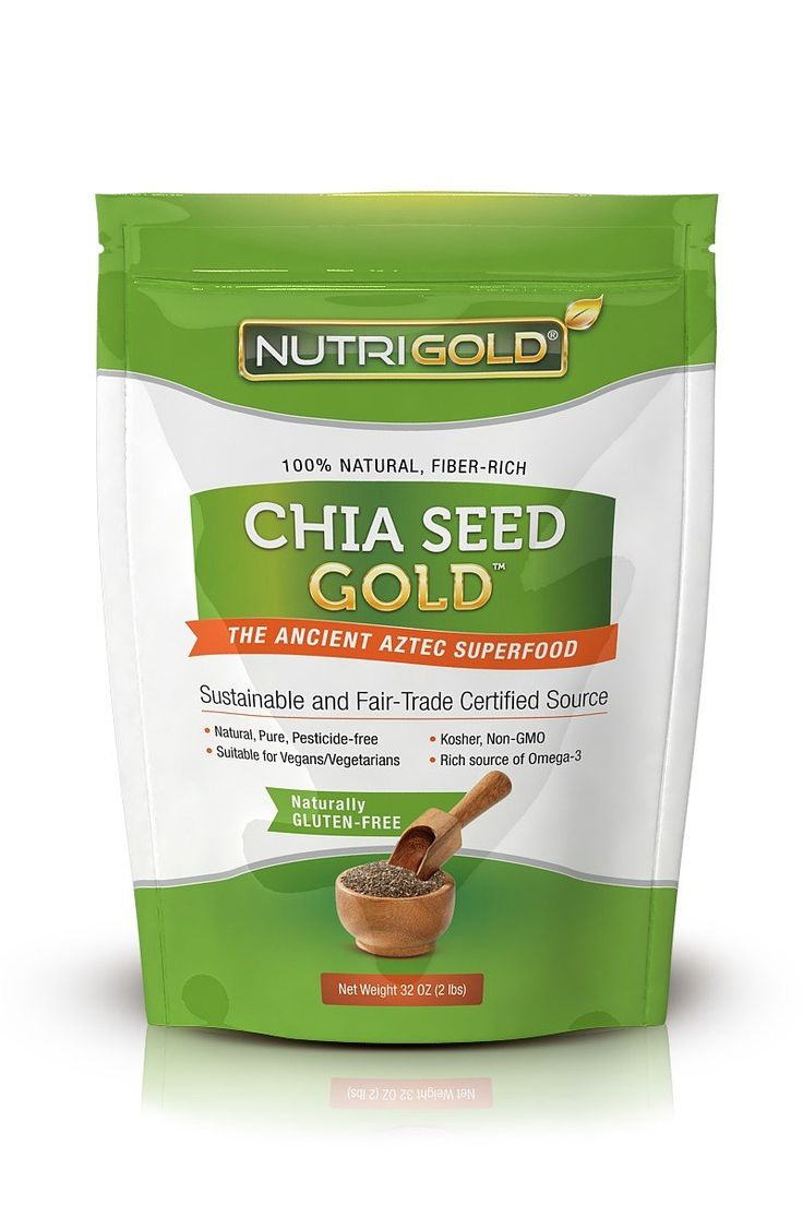 Chia Seeds Organic, 2 lbs (Pure, Non-GMO, Organic Chia Seeds for Weight-Loss, Fiber, Nutrition, and Healthy Living) Bulk 2 Pounds Bag