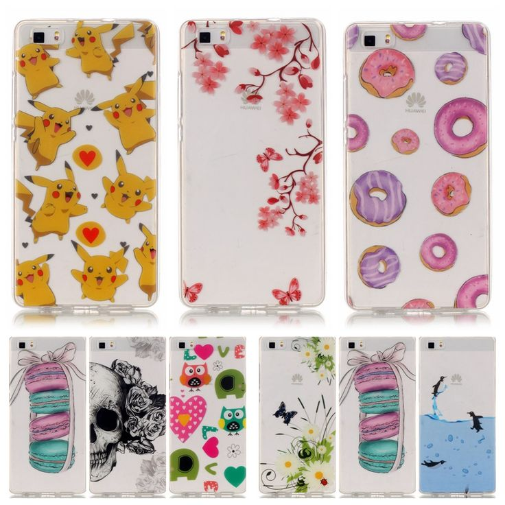 Soft TPU Silicone case sFor Fundas Huawei P8 Lite case For Huawei Ascend P8 Lite P8Lite Printed clear Transparent Phone Case