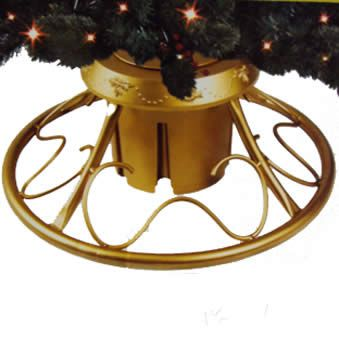 Tree Stands   Christmas Tree Stands   Deluxe Gold Revolving Artificial Tree Stand - American Sale
