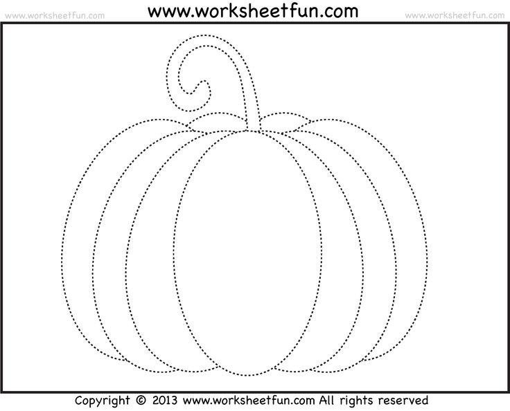 This is a graphic of Slobbery Traceable Pumpkin Pattern