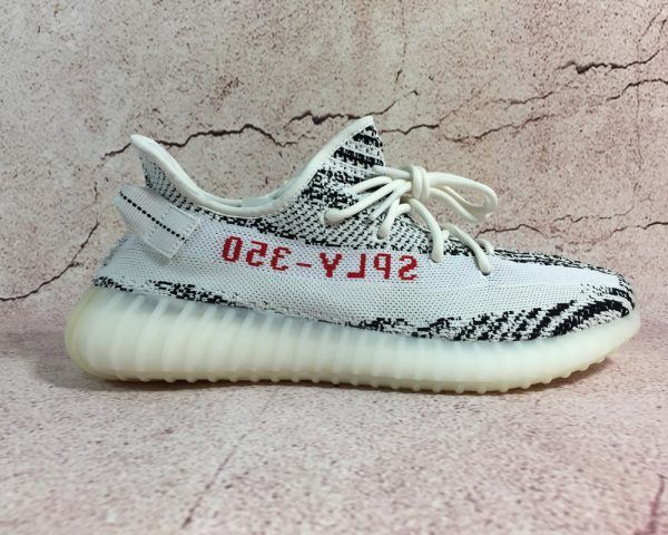 0f6576fbd18cd adidas Yeezy Boost 350 V2 Zebra White Core Black-Red For Sale ...