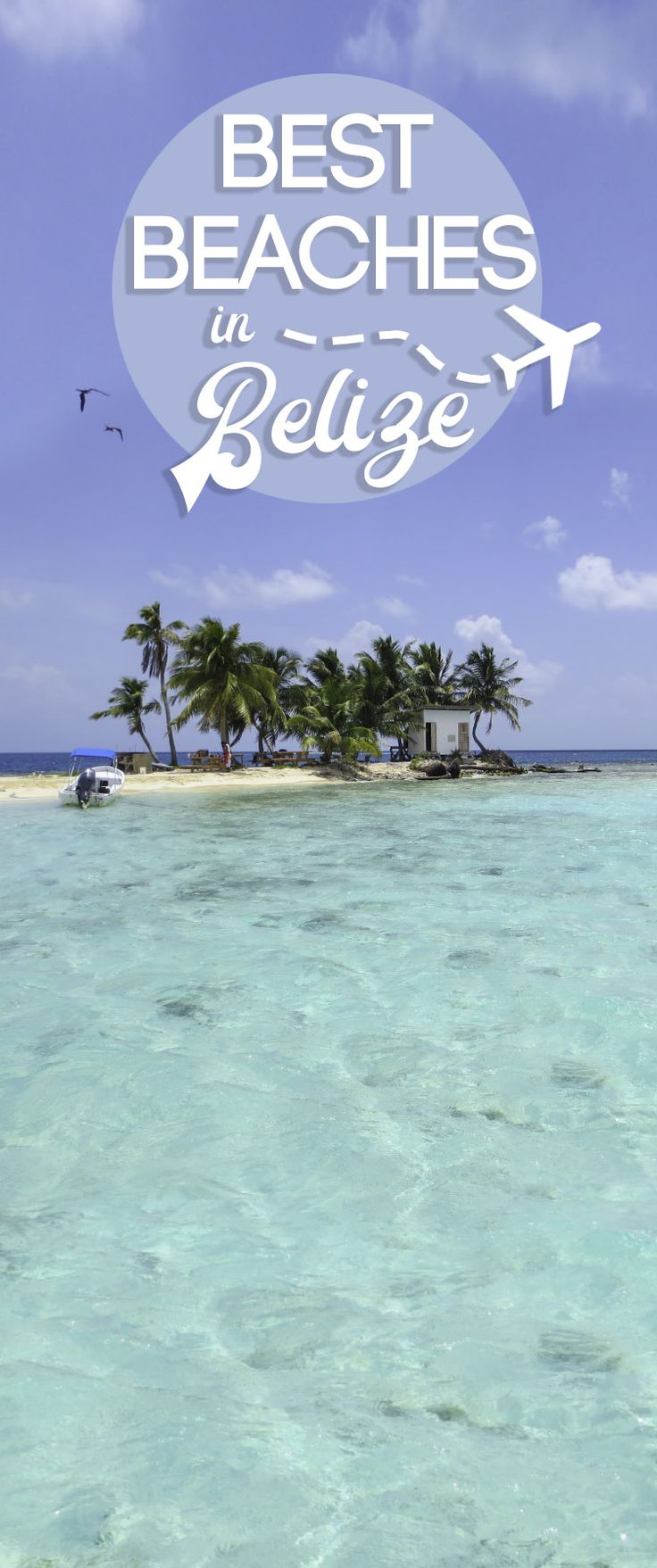 """The 5 best beaches in Belize to visit. Belize has 240 miles of coastline and 450+ islands which they call """"Cayes."""" Don't miss these 5 beaches in Belize!"""