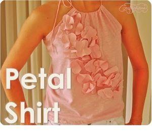 Petal Shirt Tutorial by Crafterhours