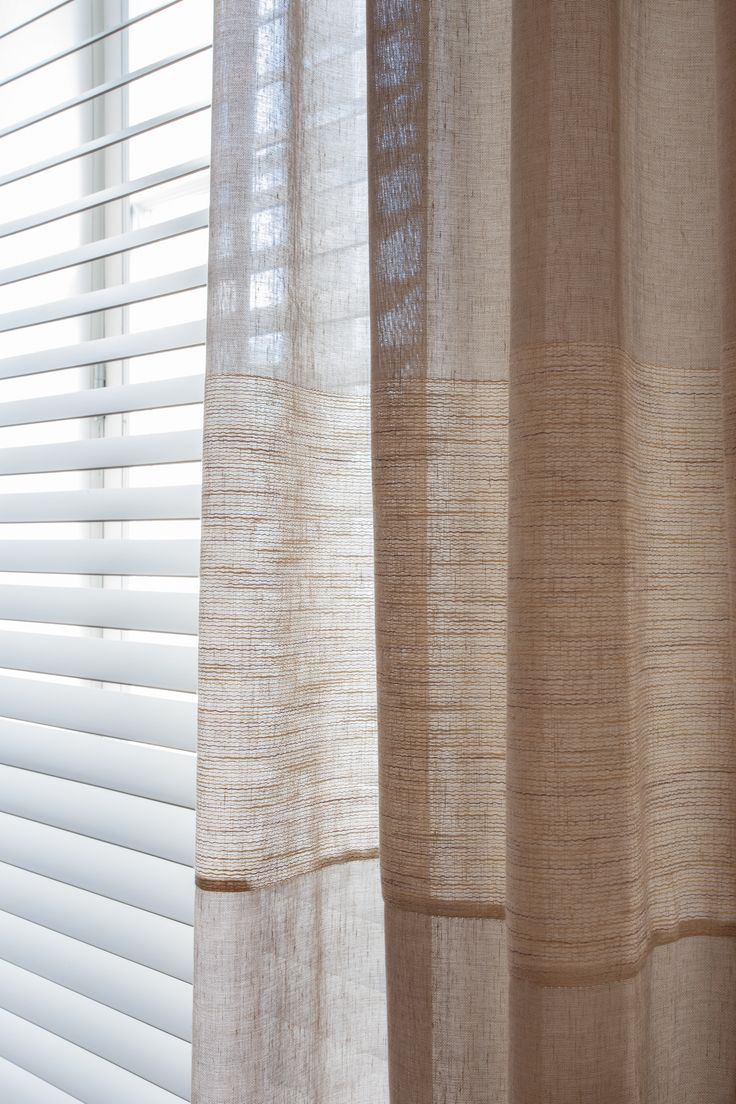 Hospitality and hotel window treatments sheer shades solar screen - Clean And Contemporary Euro Pleated Drapes With Hardwood Blinds For A Trio Of Bedroom Windows