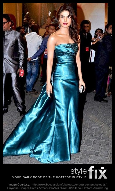 Our very own Priyanka Chopra lit up the Filmfare Awards with a stunning style statement – an Armani gown! Once again, her elegance proves why she's the most stylish in Bollywood!
