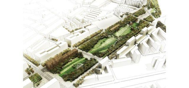 West 8 urban design landscape architecture projects for Linear architecture design