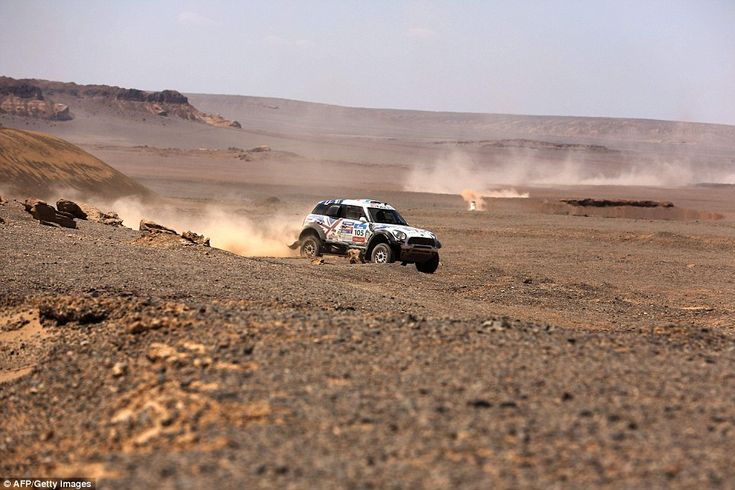 Mini Sport team driver Harry Hunt and co-driver Andreas Shulz were also competing in the Silk Way Rally