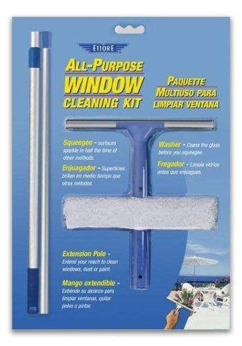 The best!  With extension pole I can reach our 2nd story windows.  Ettore 17050 All Purpose Window Cleaning Combo Kit by Ettore, http://www.amazon.com/dp/B004FOEOV8/ref=cm_sw_r_pi_dp_2qeDrb11C5ME7