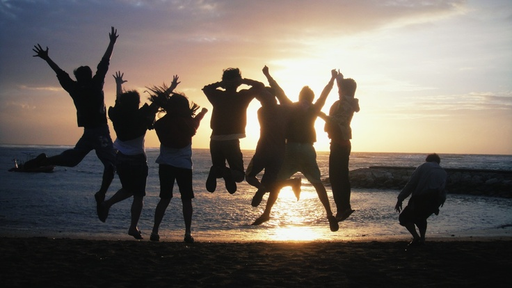 Sunrise at Sanur Beach with friends