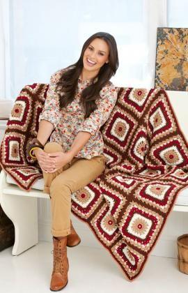Cabin in the Woods Throw Crochet Pattern