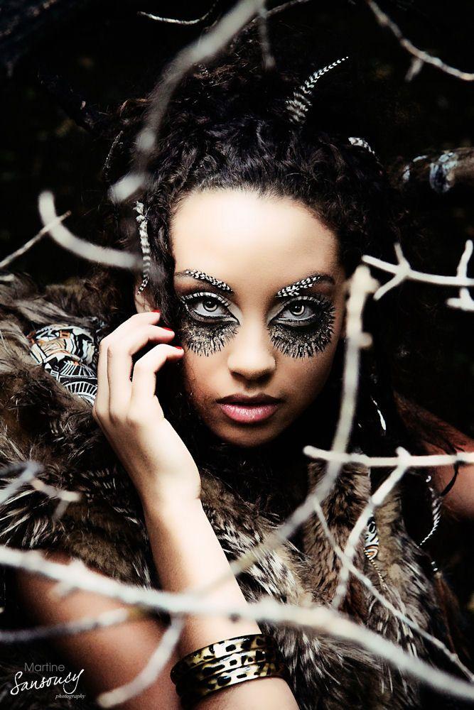 Weird High Fashion Photography | High Fashion Owl Concept Shoot