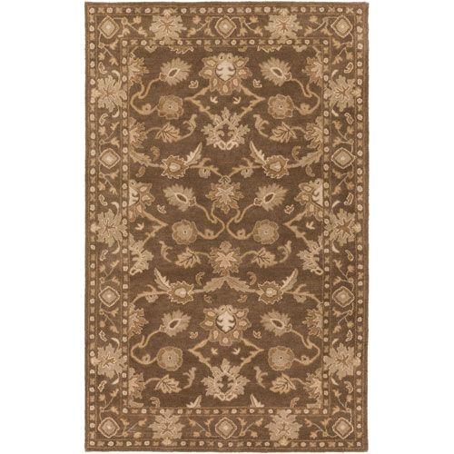 caesar brown rectangular 2 ft x 4 ft hearth rug in rectangular - Hearth Rug