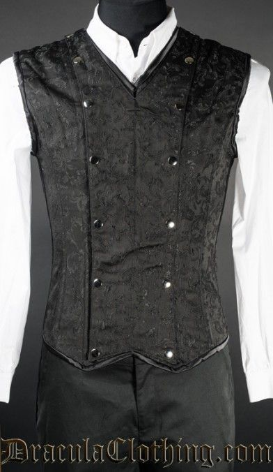 Black Brocade V-Shaper