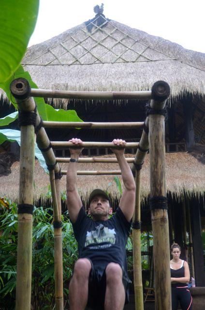 Bamboo monkey bars for grownups #fun #fitnessmotivation #sharingbali