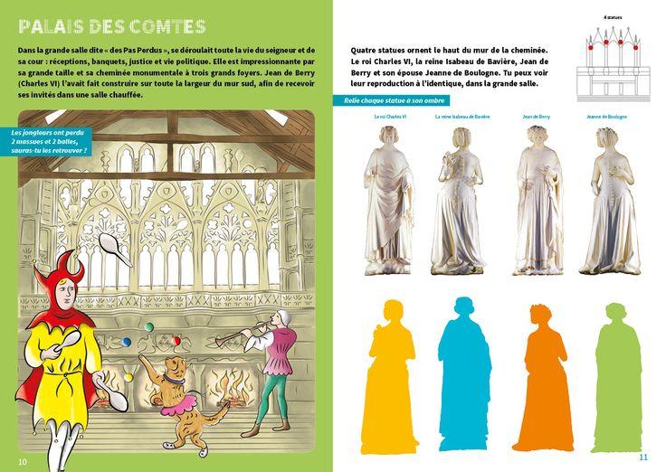 Disponible bientôt à l'Office de tourisme ! Je termine ce carnet de jeux et de découverte du patrimoine dans le quartier Notre-Dame de Poitiers... une chasse au trésor pour les explorateurs en herbe !  Réalisation en partenariat avec la Direction Coordination Culture - Patrimoine. (p 6-7))
