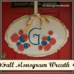 Fall Monogram Wreath with Rolled Fabric Flowers