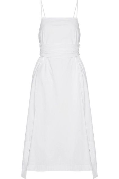 Elizabeth and James - Oak Stretch-cotton Poplin Midi Dress - White - US10