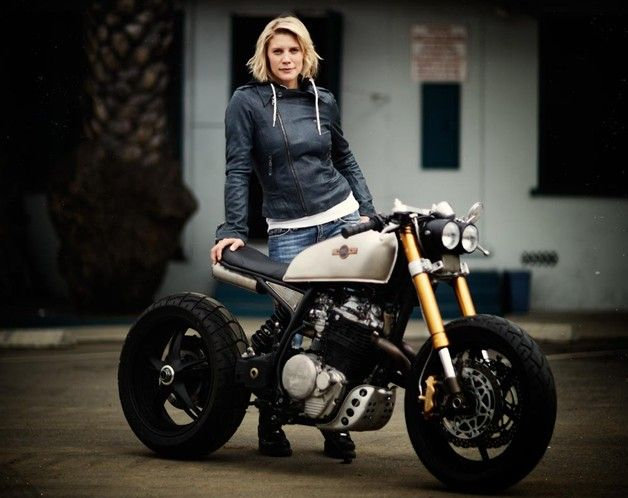Not a huge Katie Sackoff fan, but this bike is pretty shweet. Classified Moto is calling this custom bike the KT600 (started out life as a Honda XL600R Enduro)