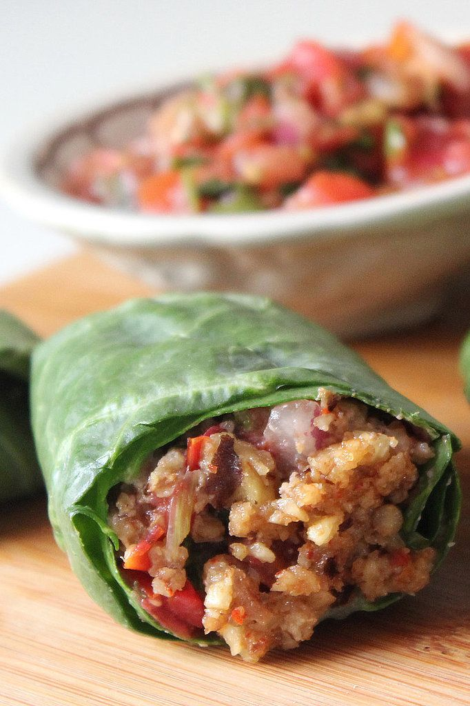 Raw Gorilla Wrap -- revamp your lunch with a fast, protein-packed vegan wrap. Use 1 1/2 cups walnuts to serve 6.