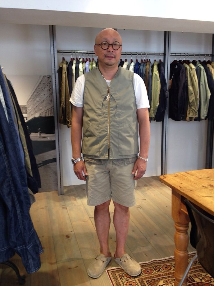 Mr. Post Overalls in a new vest design for SS15 http://www.postoveralls.com/blog/