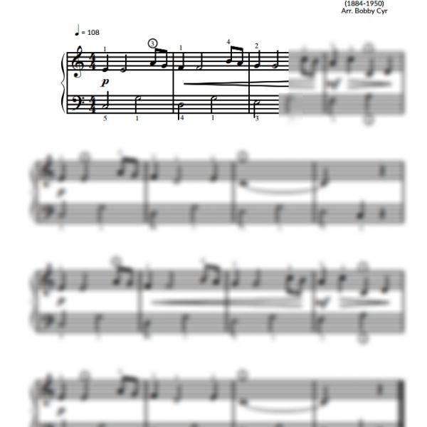 Tiptoe Through the Tulips - Easy Piano Sheet Music for Beginners / Piano Notion