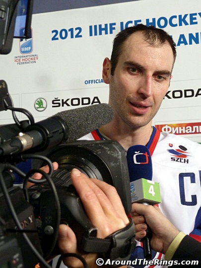 Hockey Worlds Slovakia captain Zdeno Chara. Add Around The Rings on www.Twitter.com/AroundTheRings & www.Facebook.com/AroundTheRings for the latest info on the Olympics.
