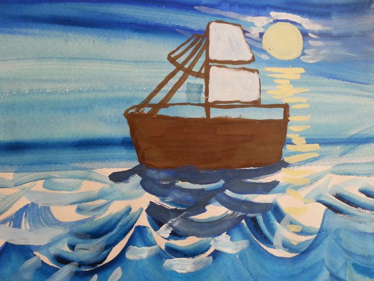 Boat at the sea by Christine as a child!